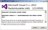 Visual C++ Redistributable Packages for Visual Studio 2013