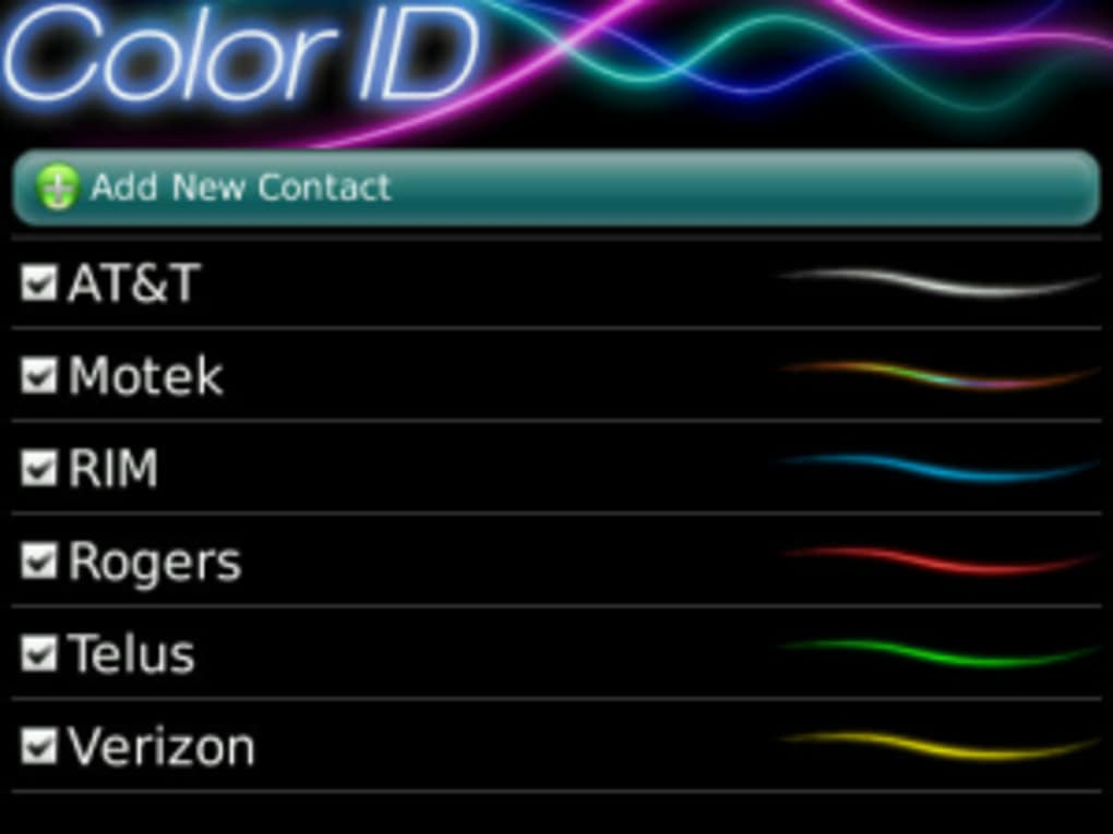 """Blackberry download """"color id free ☆ led light color customizer."""