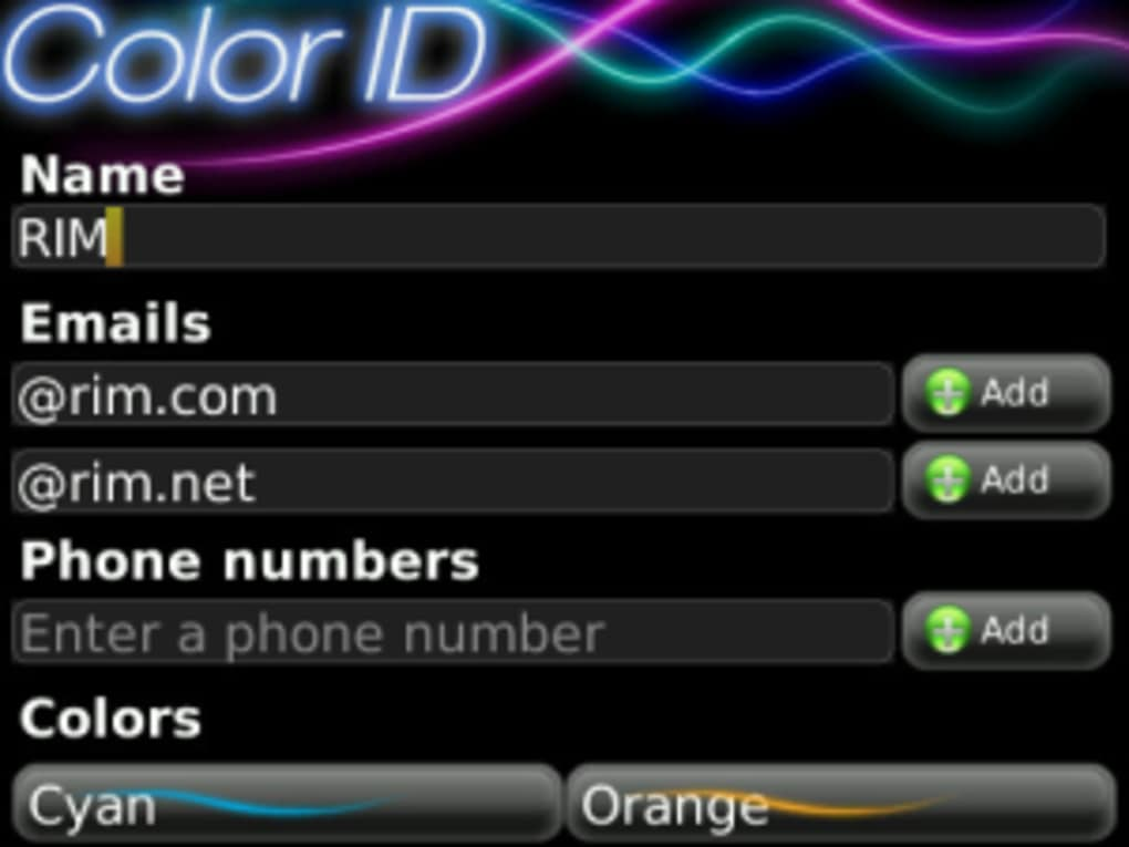Color id free for blackberry download.