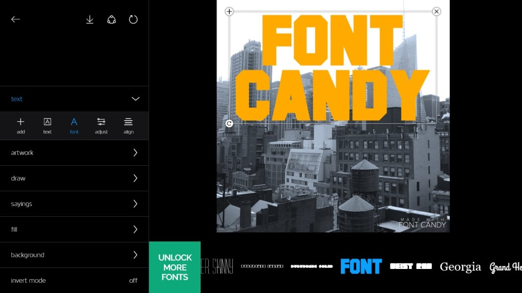 Font Candy Typography Photo Editor Download