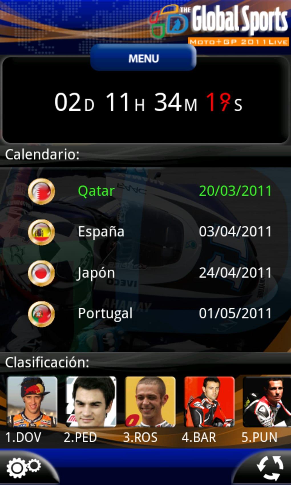 Moto+GP Live 2011 para Android - Download