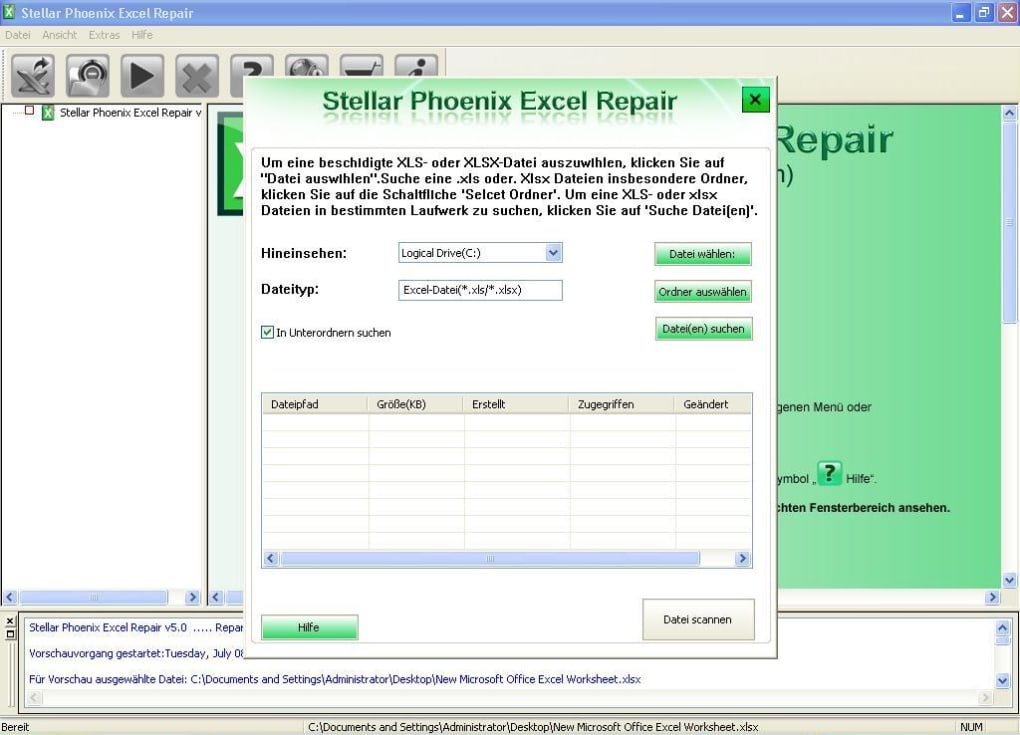 Stellar Phoenix Excel Repair Telecharger