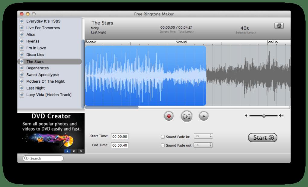 ringtone generator mac