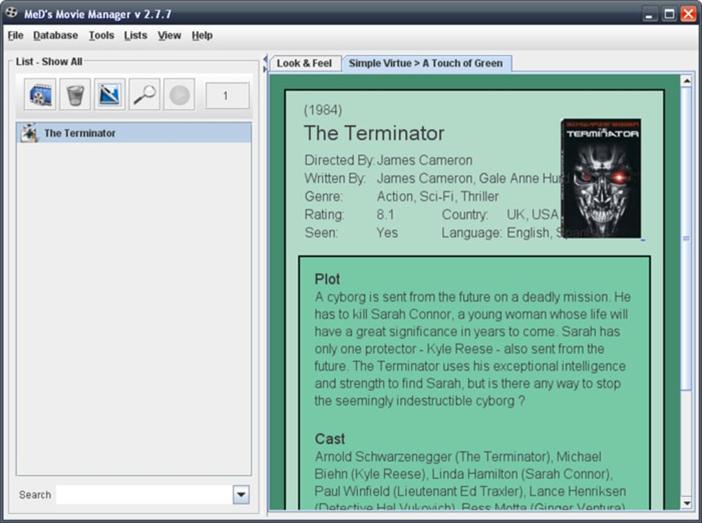 Movie manager freeware