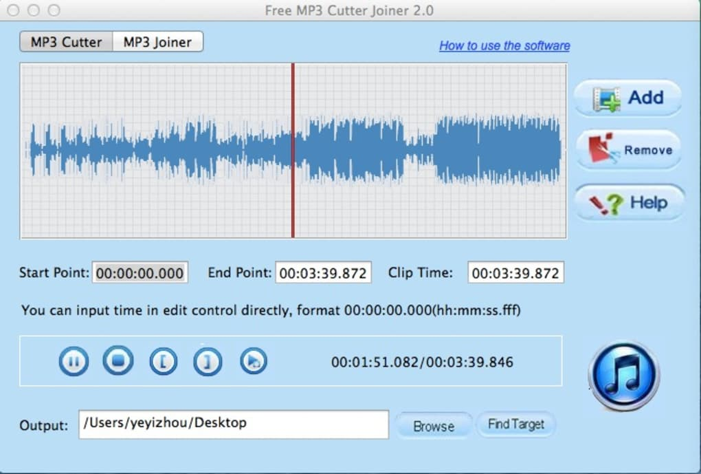 Free MP3 Cutter Joiner for Mac - Download