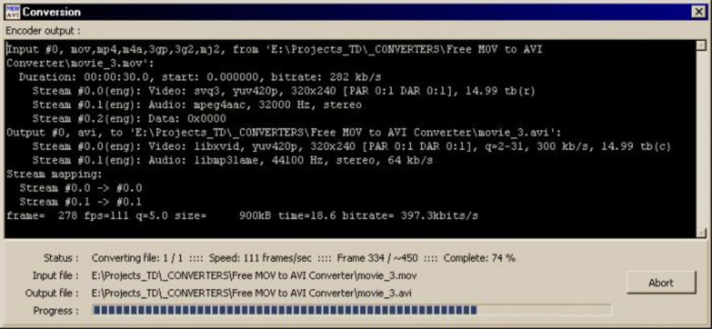 Pazera Free MOV to AVI Converter - Download