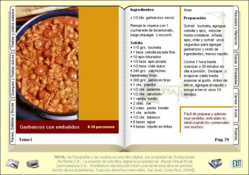 Libro De Recetas De Cocina | Mi Libro Digital De Cocina Descargar