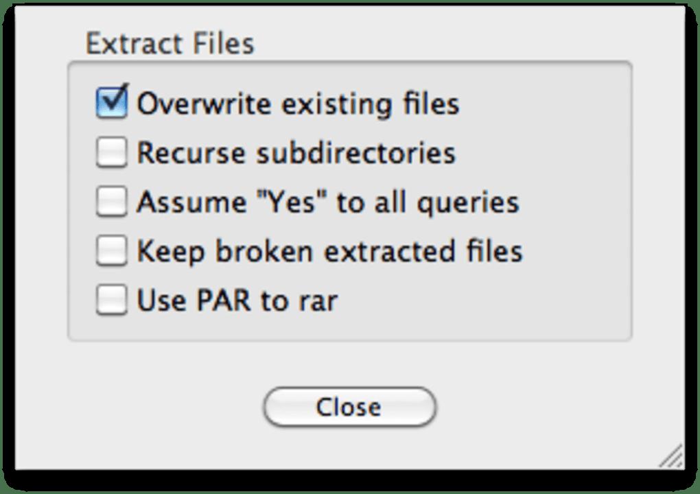 UnRarX für Mac - Download