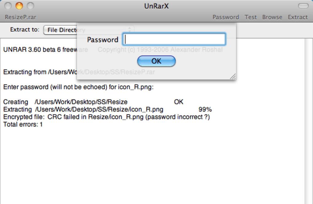 unRarX for Mac - ダウンロード