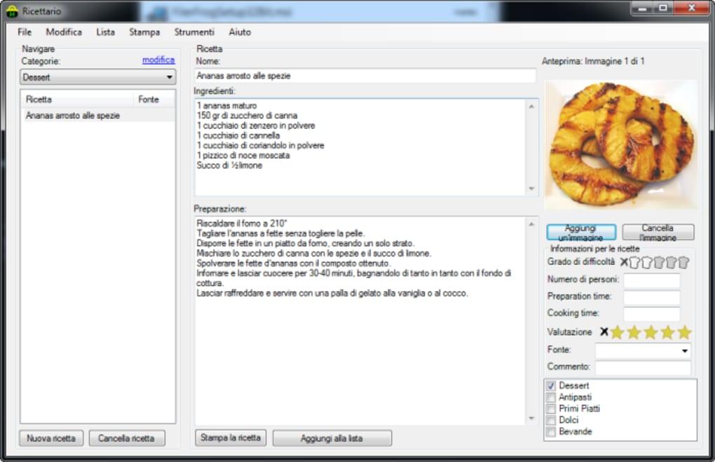 Cookbook portable download for Programma per progettare cucina