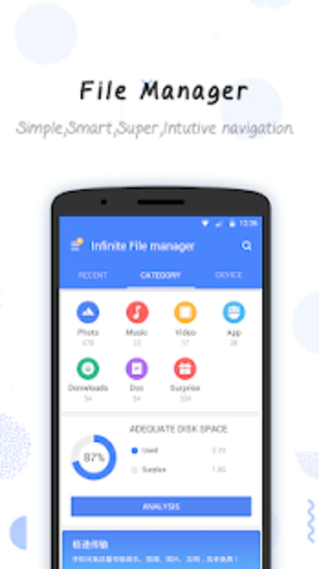 Infinite File Manager  Explorer Transfer  Clean
