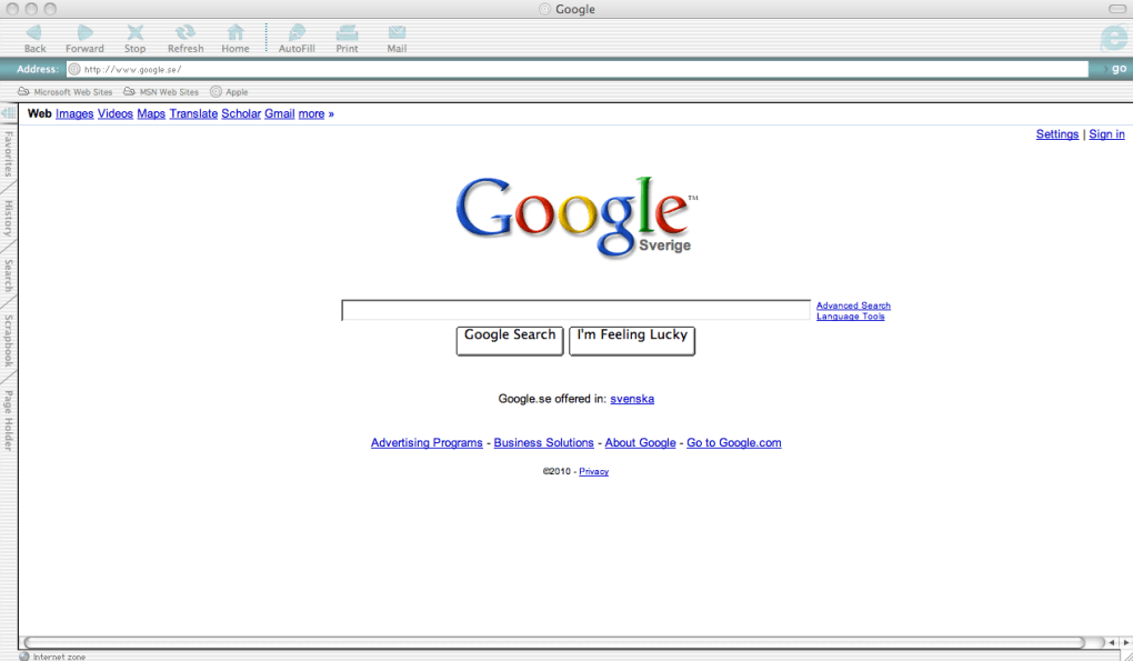 internet explorer sur mac 10.4.11