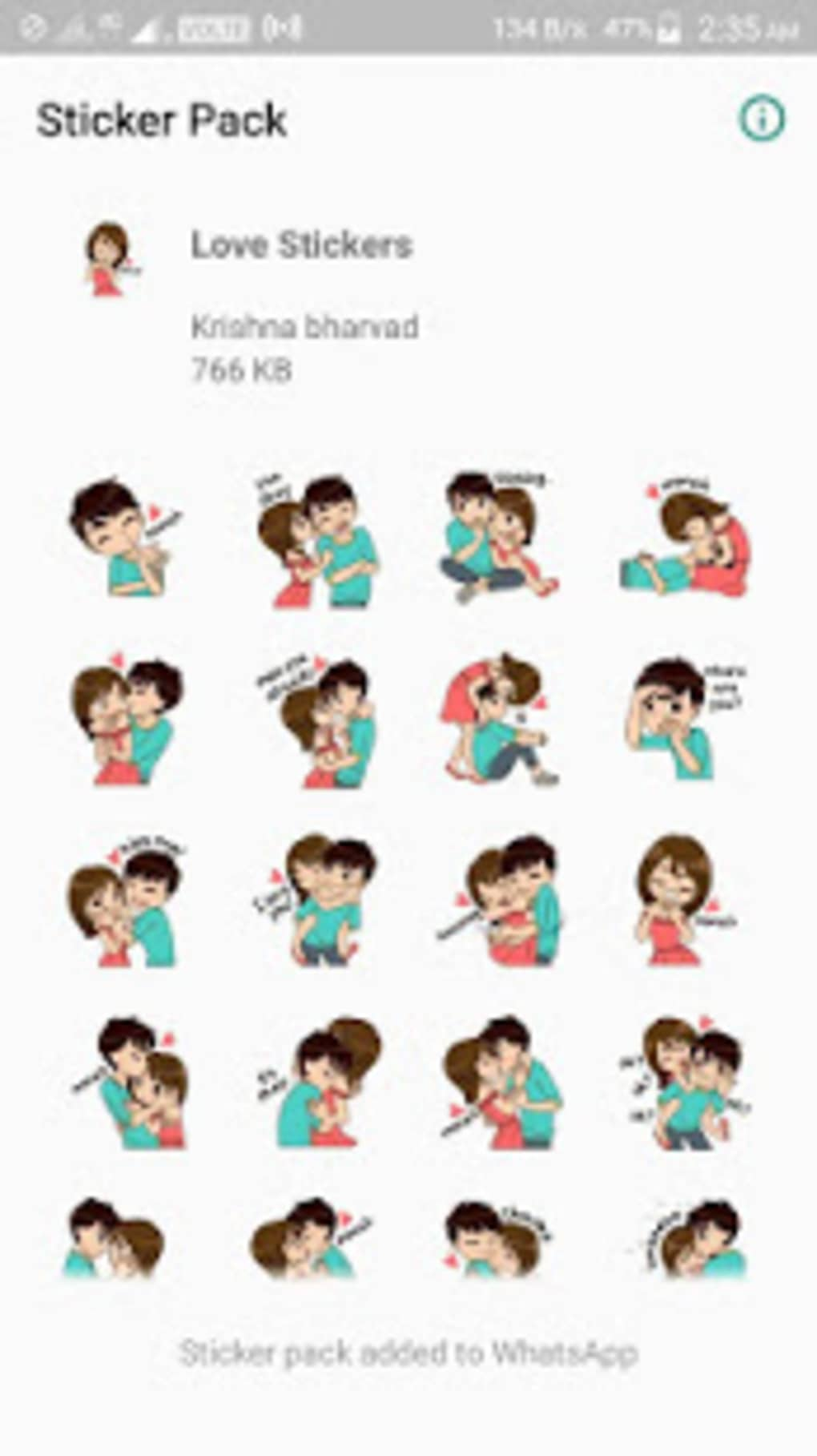 Wastickerapps Love Stickers Pack For Whatsapp For Android