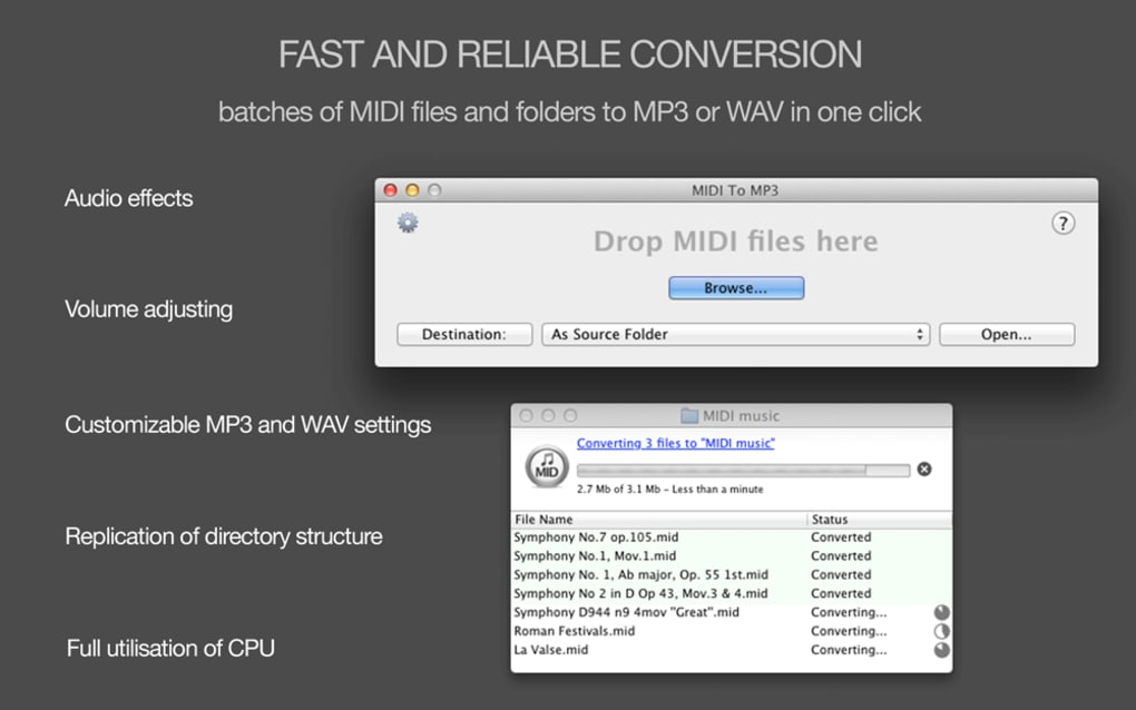 MIDI to MP3 converter for MAC for Mac - Download
