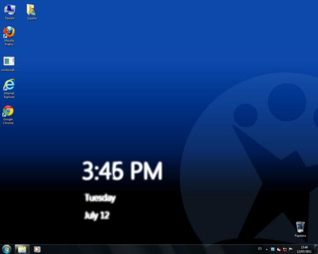 windows 7 clock
