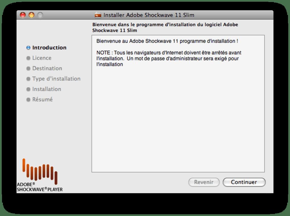 Adobe Shockwave Player pour Mac - Télécharger