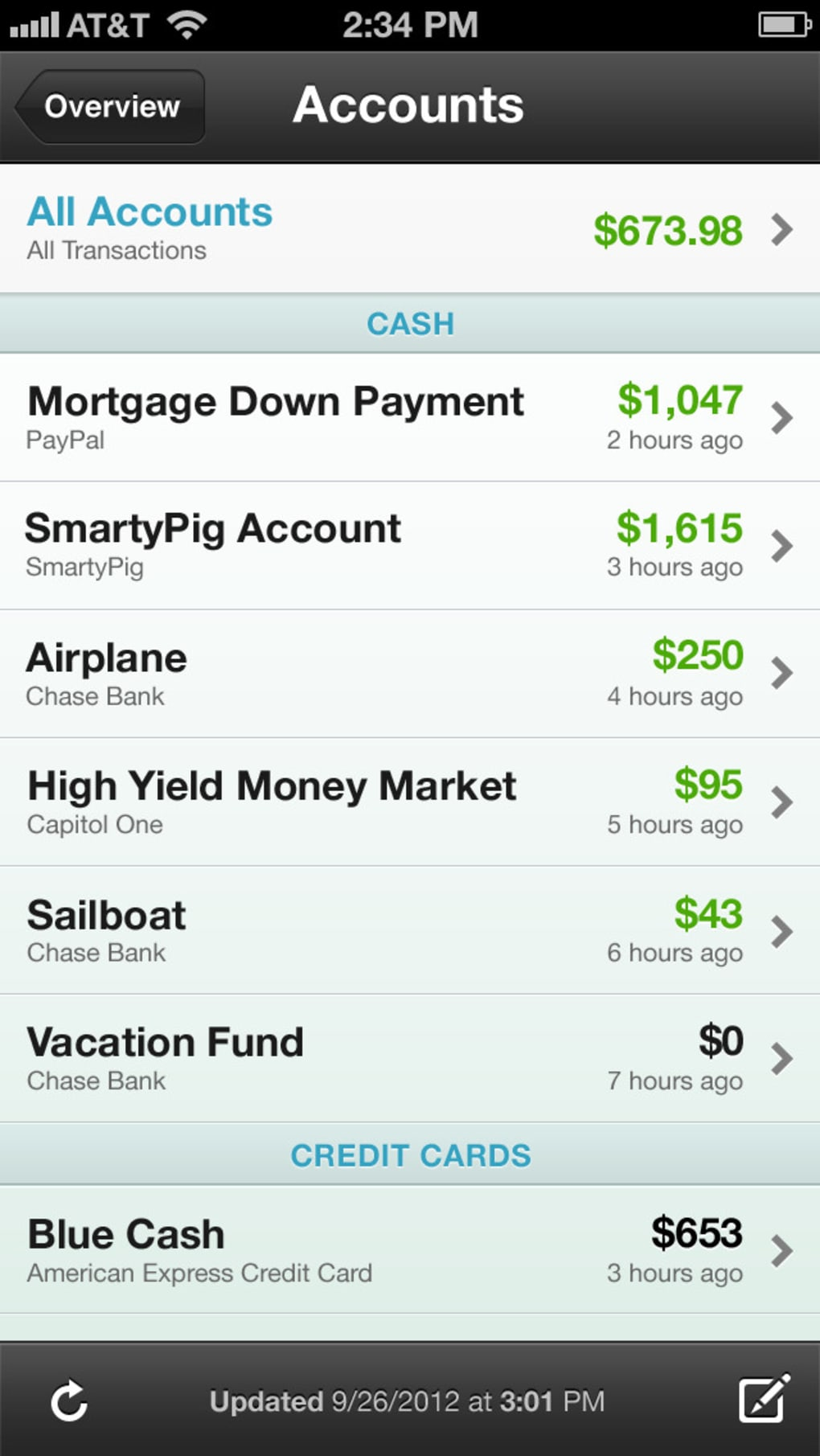 Mint Personal Finance for iPhone - Download
