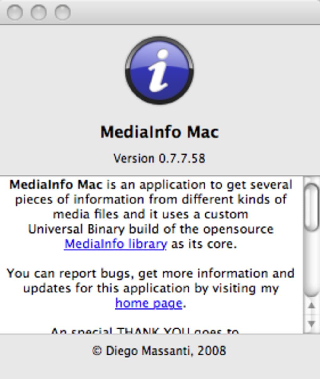 mediainfo mac