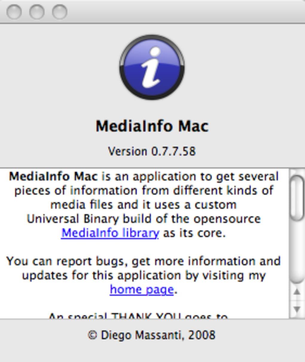 MediaInfo Mac (Mac) - Download