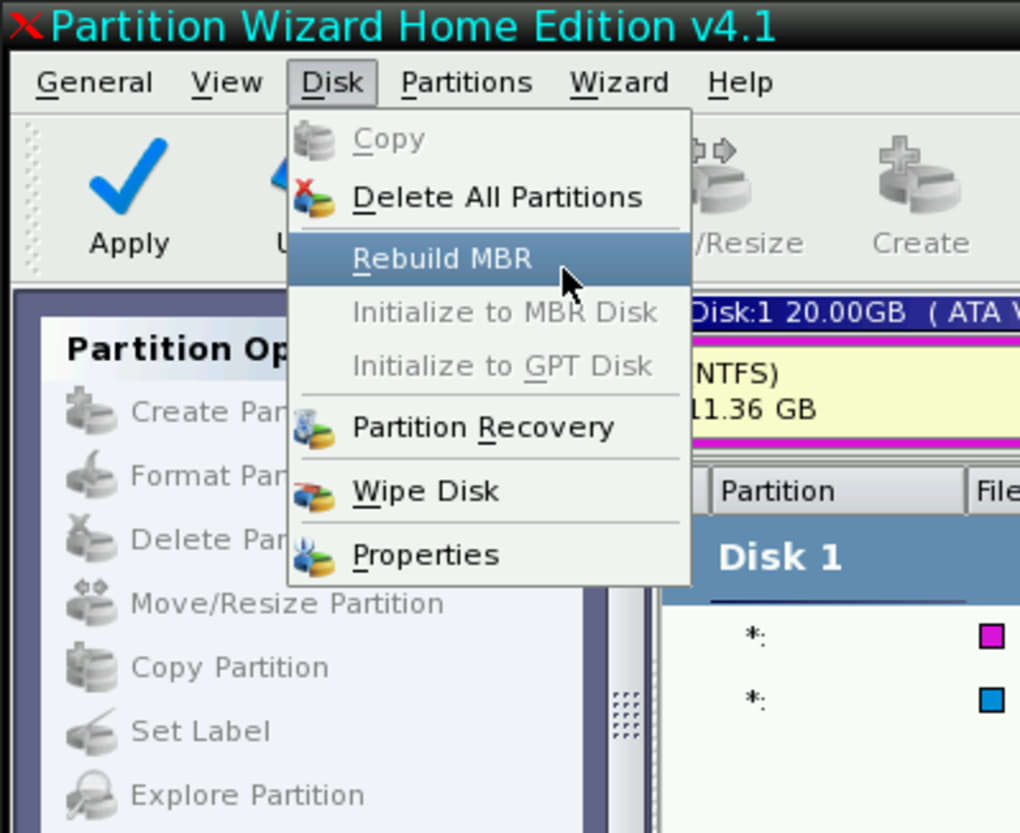 bootable partition wizard