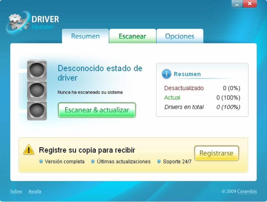 descargar carambis driver updater 2013 con serial crack