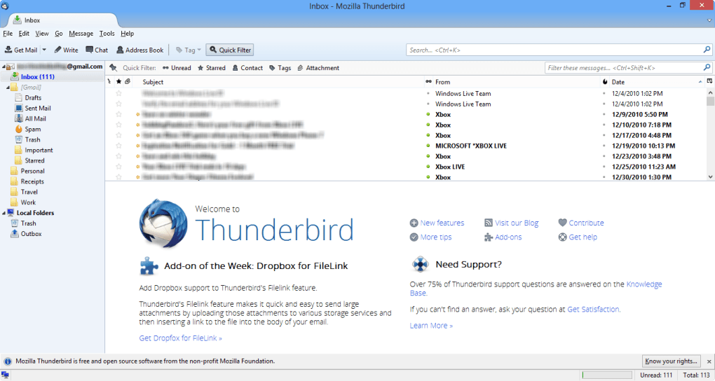 thunderbird android ダウンロード