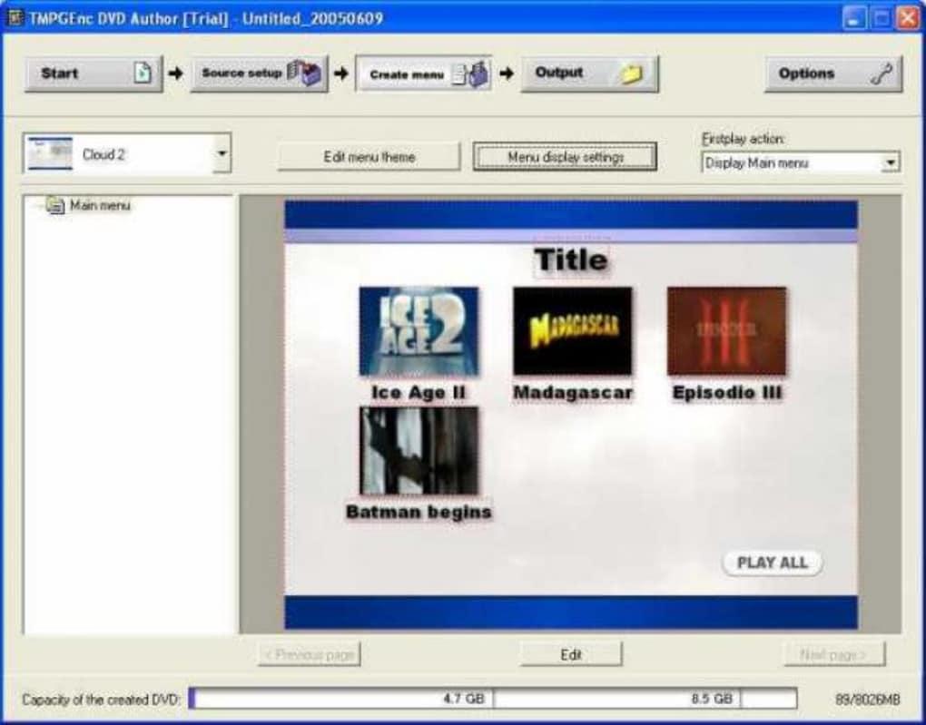 DVD AUTHOR BAIXAR TMPEGENC