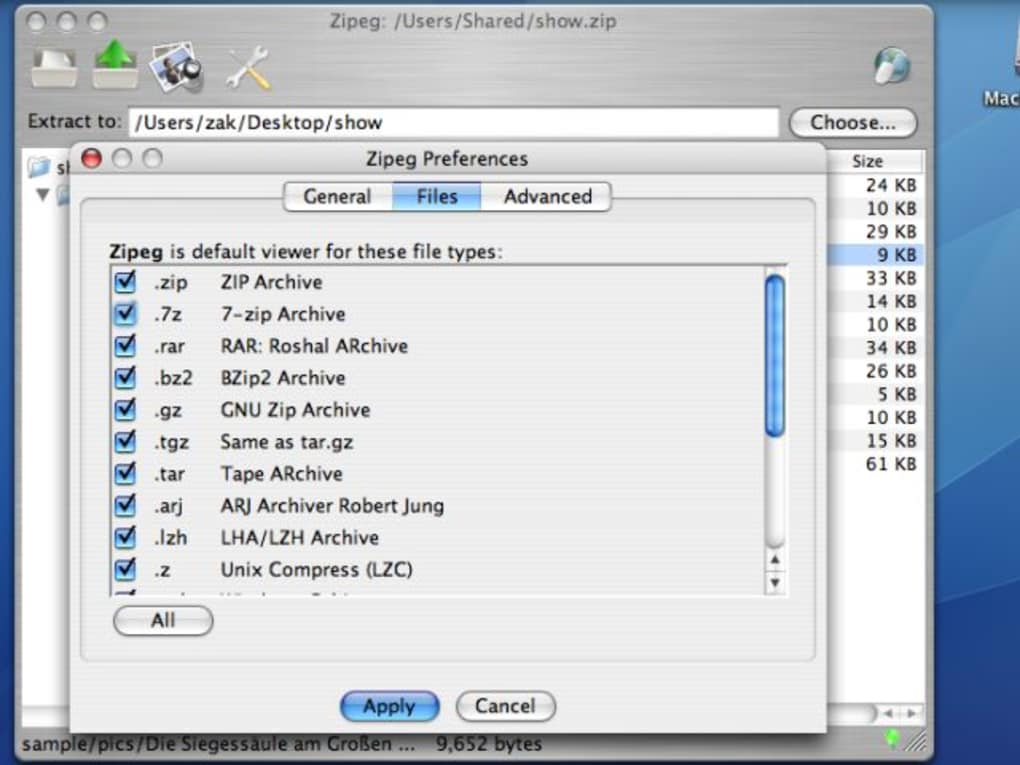 zip utilities mac