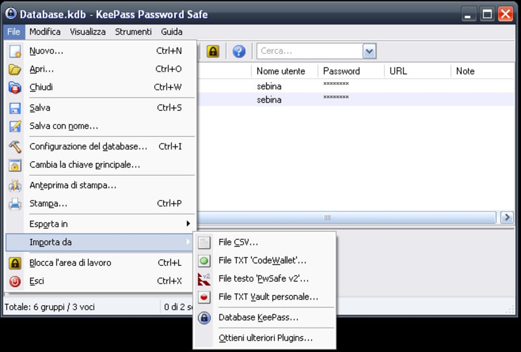 keepass in italiano
