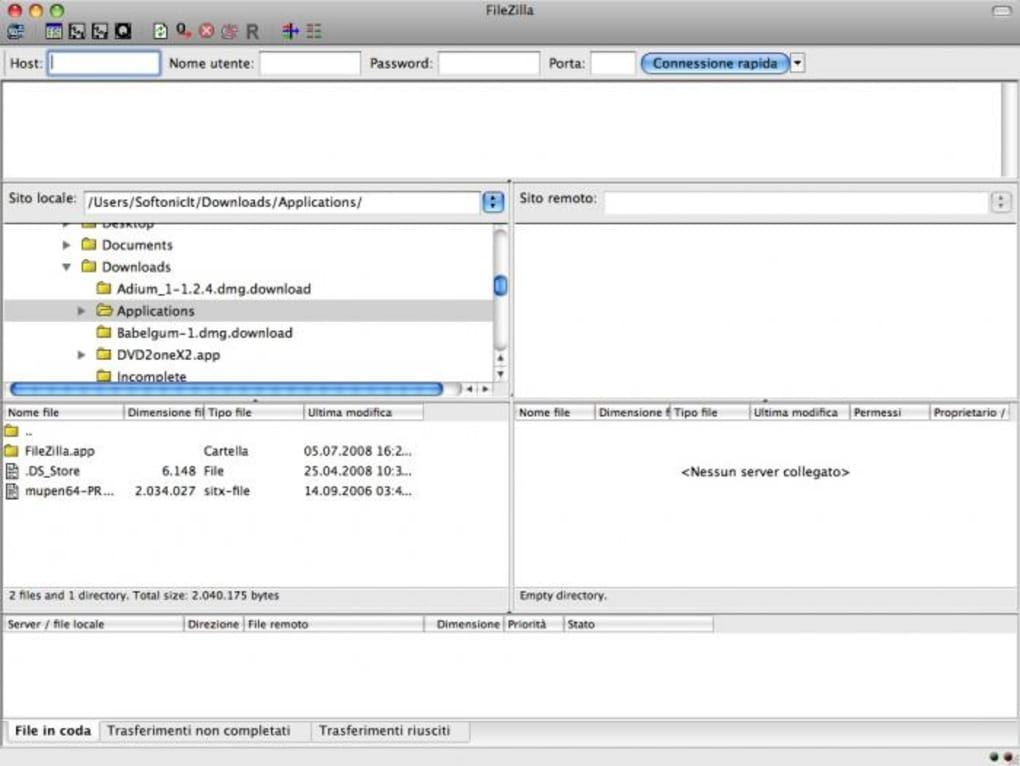 filezilla pour mac 10.4