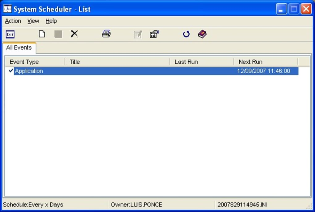 image relating to Downloadable Scheduler known as Course of action Scheduler - Down load