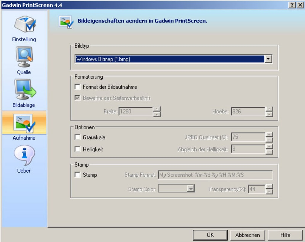 gadwin printscreen franais windows 7
