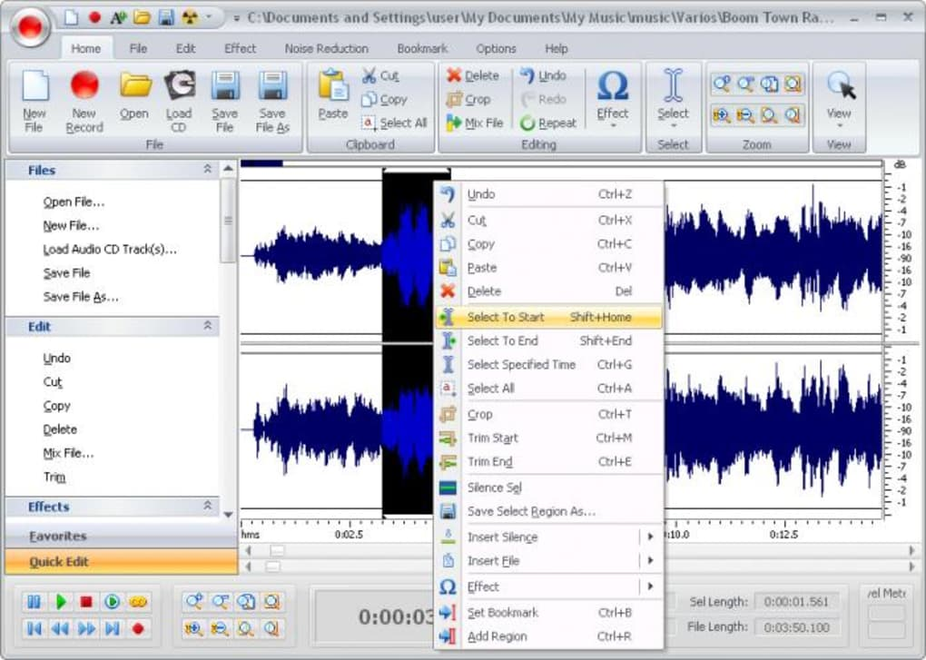 Free Audio Editor - Download