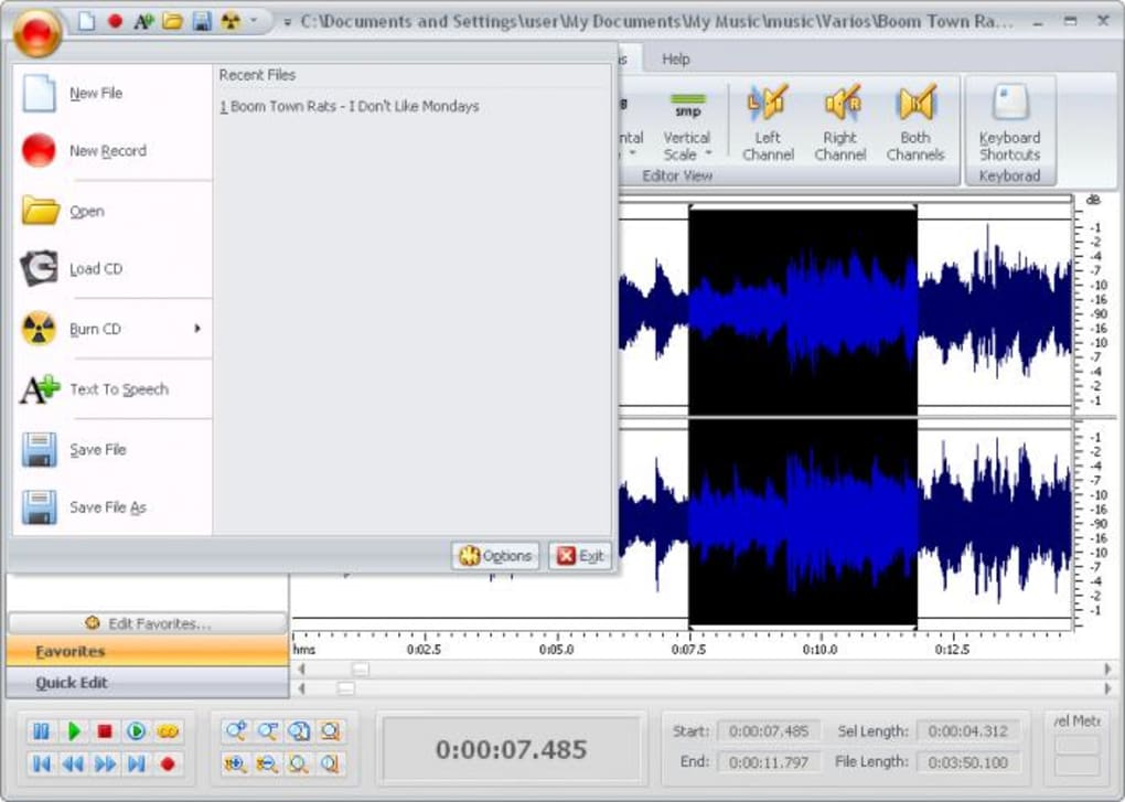free audio editor 2009 6.8 8