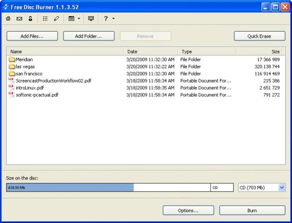 Free Disc Burner - Download