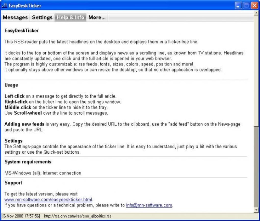 Easy Desk Ticker - Download