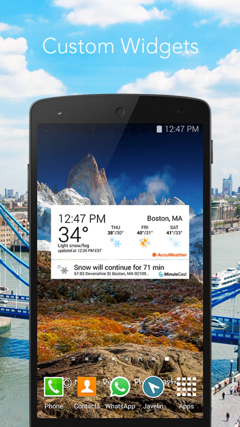 ANDROID TÉLÉCHARGER ACCUWEATHER