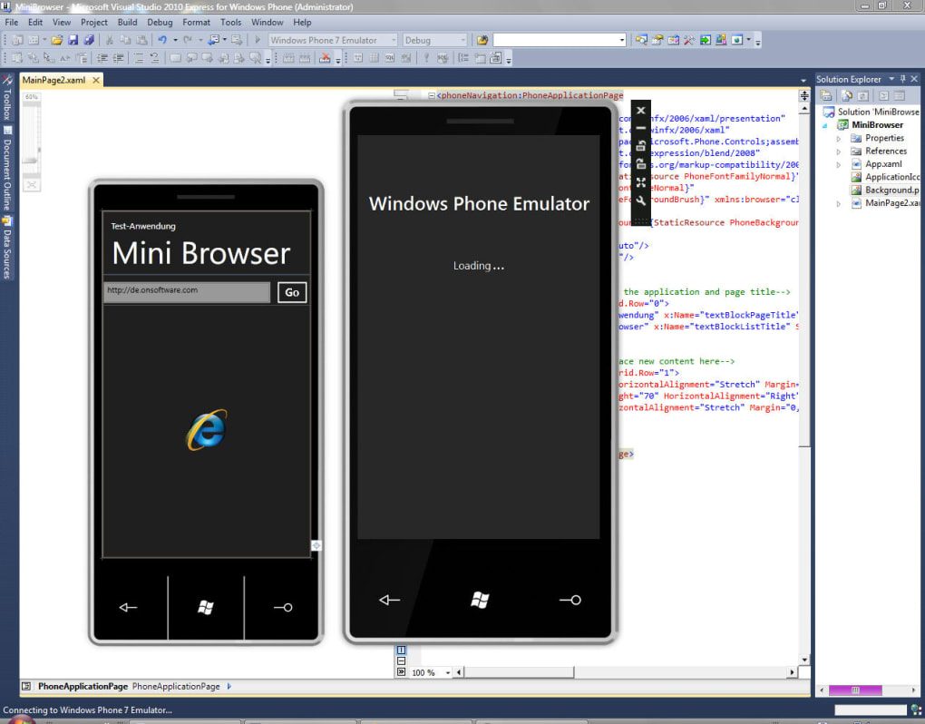 Download Visual Studio 2010 Express for Windows Phone iso
