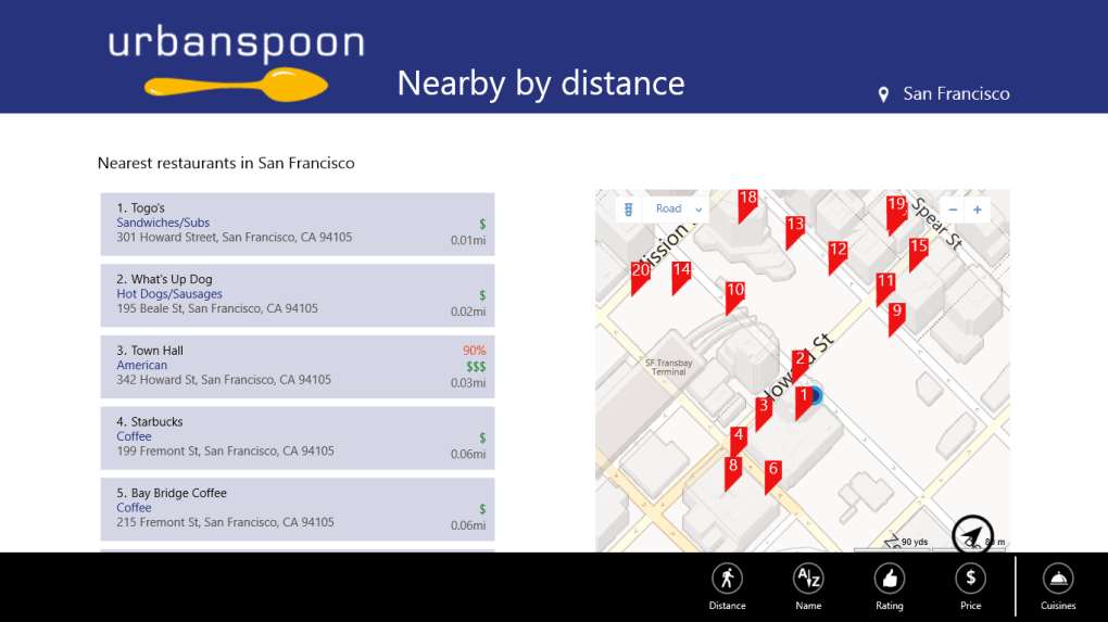 Urbanspoon for Windows 10