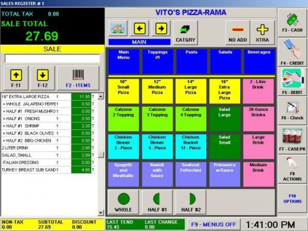 restaurant pos software freeware