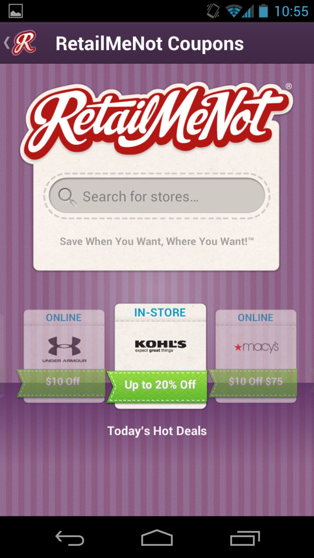 Retailmenot Coupons For Android Download
