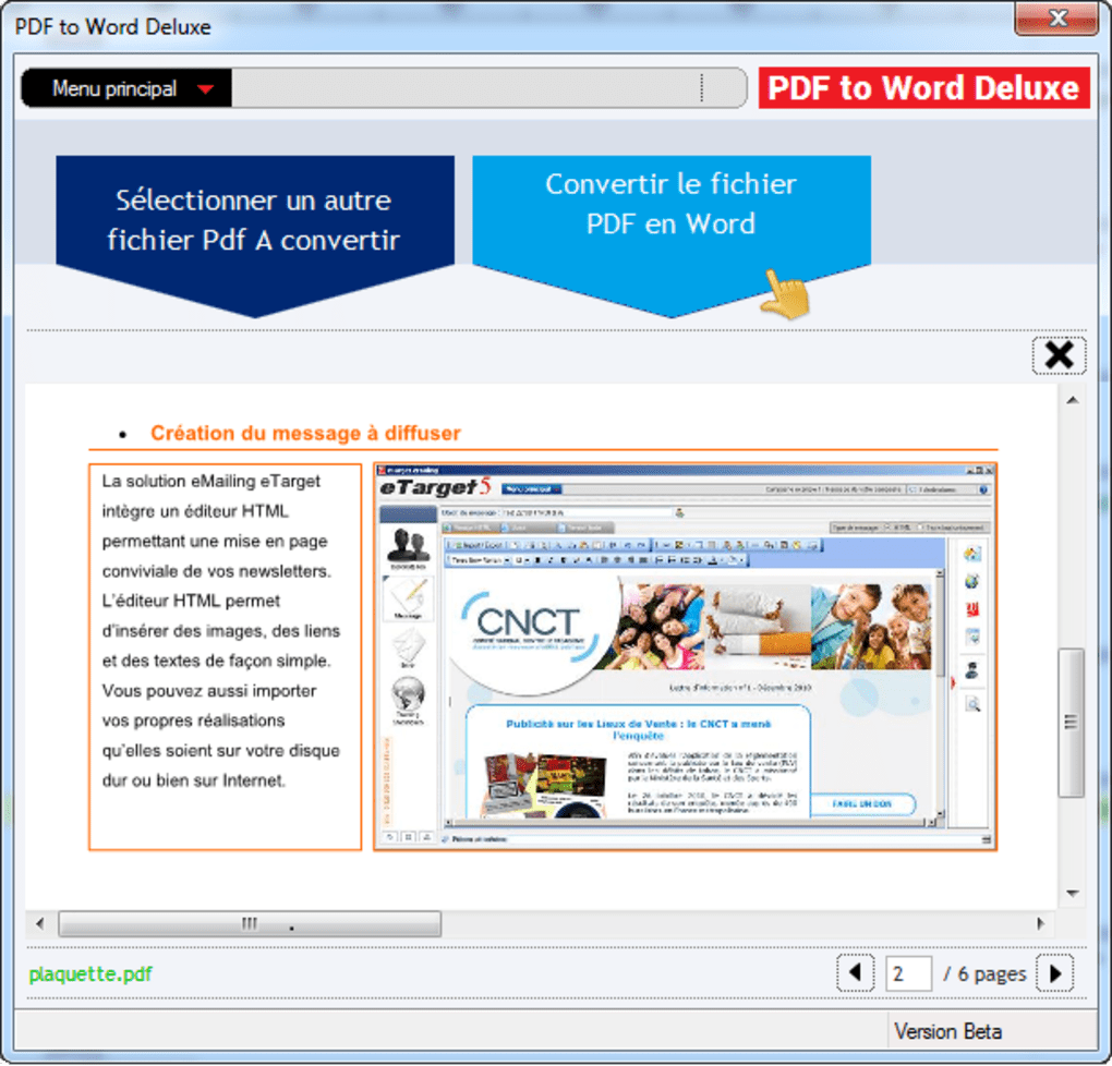 Pdf to word deluxe t l charger - Convertir fichier pdf en open office gratuit ...