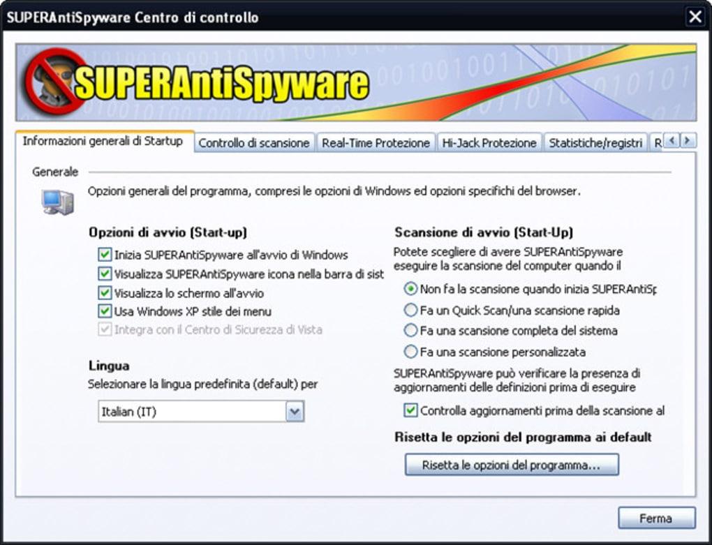 SCARICA SUPERANTISPYWARE FREE ITALIANO