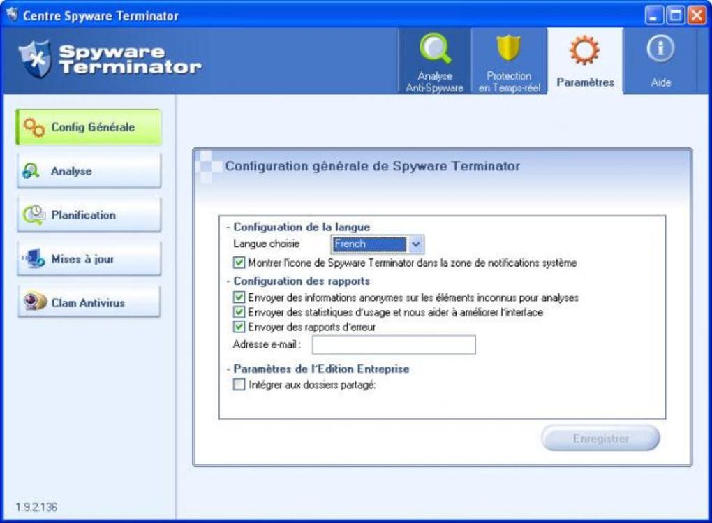 spyware terminator francais