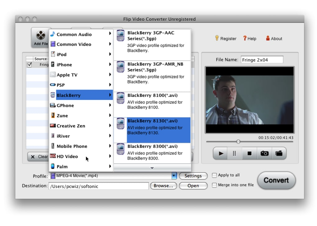 flip video avi on mac