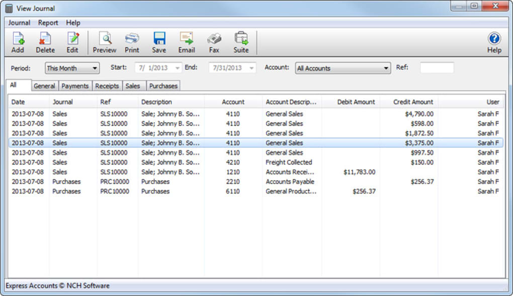 Express Accounts Free - Download
