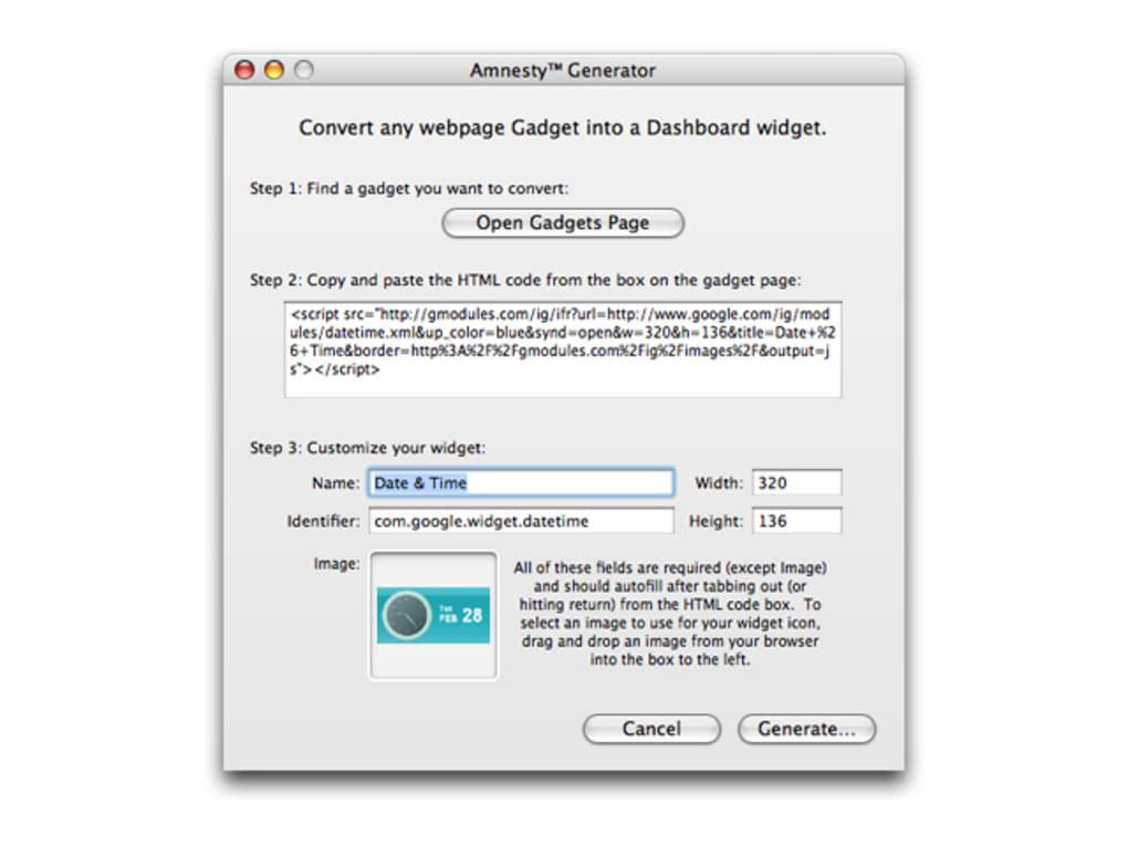 Amnesty Generator For Mac Download