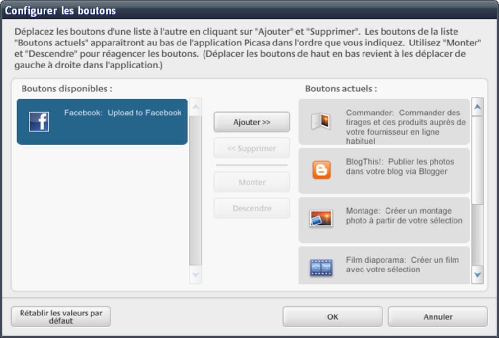 Picasa Facebook Uploader Télécharger