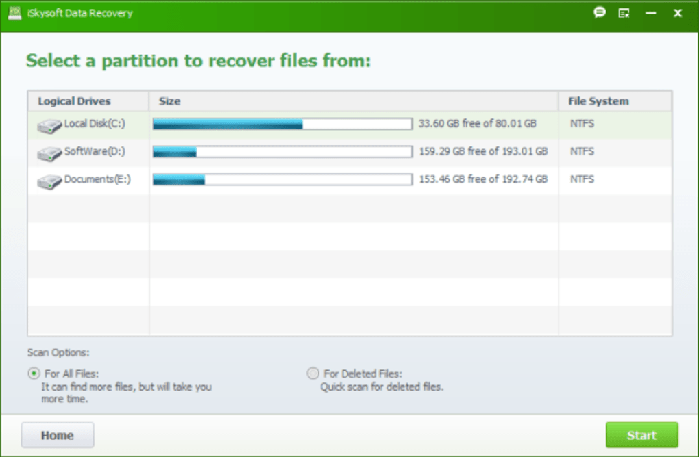 iSkysoft Data Recovery - Download