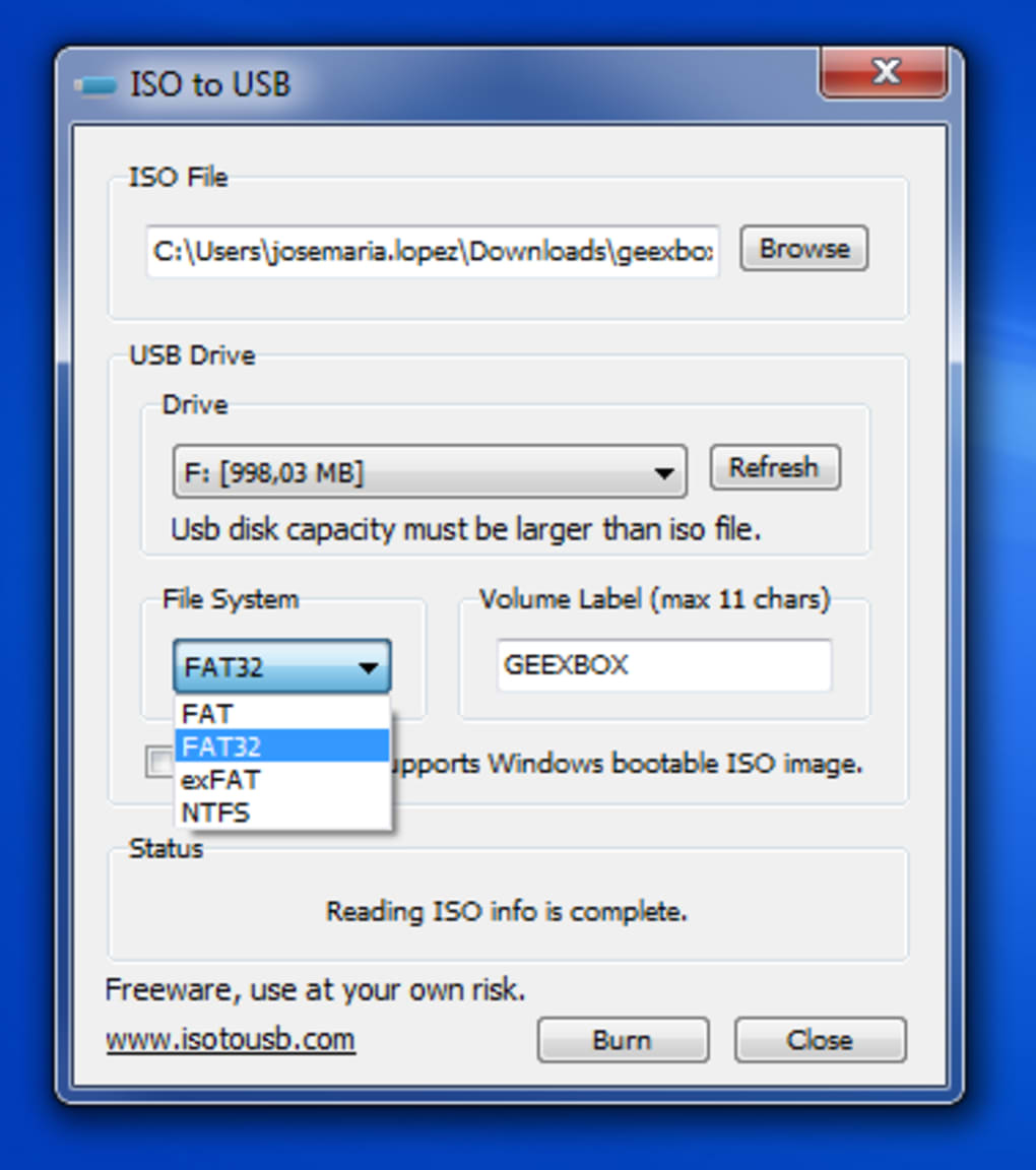 iso file to usb bootable converter software download